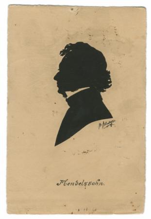 Silhouette of Mendelssohn by Hans Allmayer