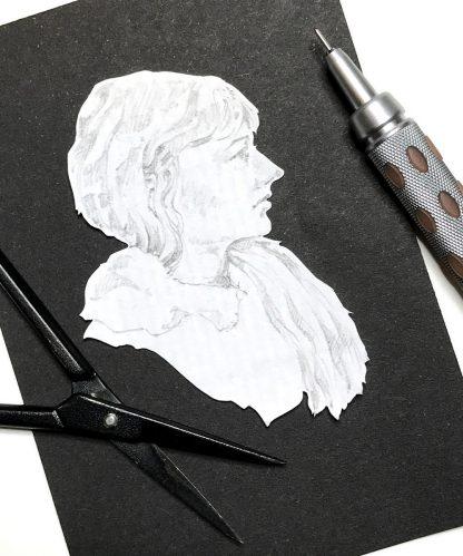Studio shot with scissors and graphite holder